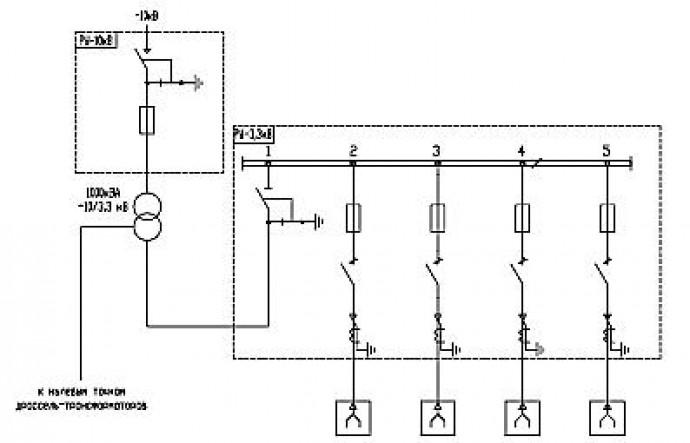Структурная схема устройства питания ПОВ